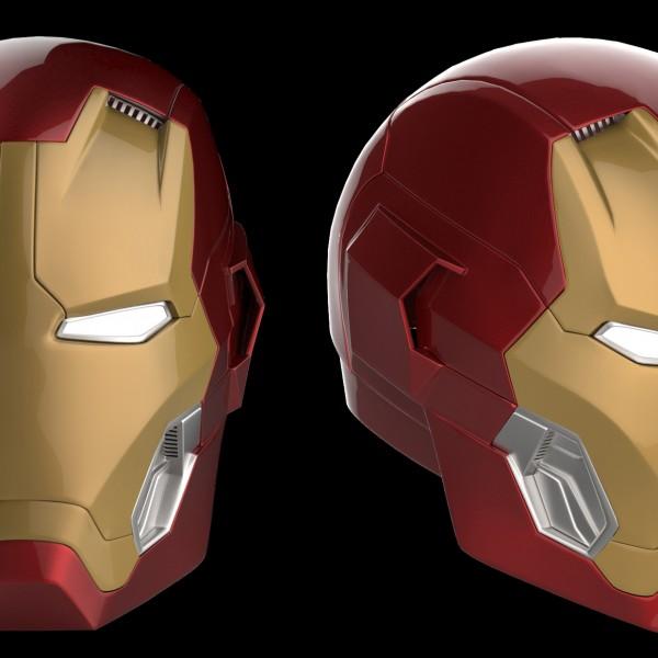 mark 45 helmet rendering do3d