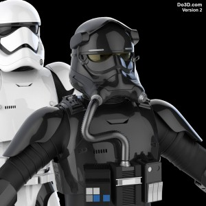 tie pilot 3d printable model v2 by do3d