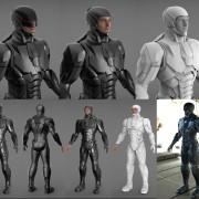 new robocop 3D printable suit portfolio