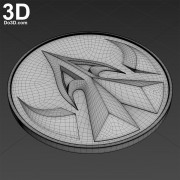 Lord-Drakkon-Mysterious-Power-Ranger-coin-medal-3d-printable-model-print-file-stl-by-do3d