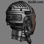 back view robocop classic printable by do3d