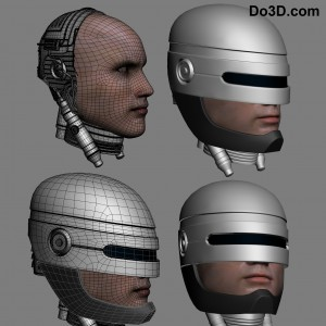 classic robocop 3d printable helmet by do3d