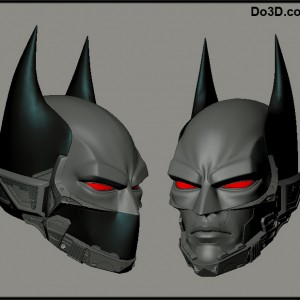 batman beyond 3D printable helmet by do3d