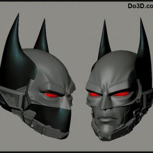 batman beyond 3D printable helmet by do3d