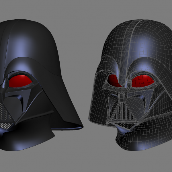darth vador 3D printable helmet model