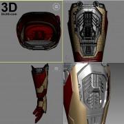 3d printable model mark 42 avengers iron man hand forearm gauntlet stl obj
