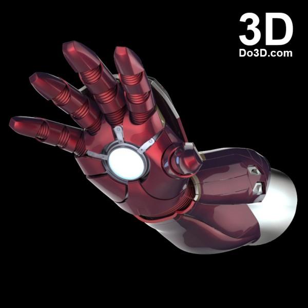 3d printable model mark 46 civil war iron man hand forearm gauntlet stl obj 0