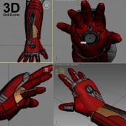 3d printable model mark 46 civil war iron man hand forearm gauntlet stl obj
