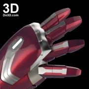 3d printable model mark 46 civil war iron man hand forearm gauntlet stl obj 2