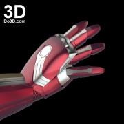 3d printable model mark 46 civil war iron man hand forearm gauntlet stl obj 3
