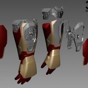 do3d-mark-42-forearm-innter-parts details-3d-printable-model