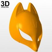 3d-printable-model-persona-5-mask-print-file-formats-stl-Yusuke-Kitagawa-Fox-mask-helmet