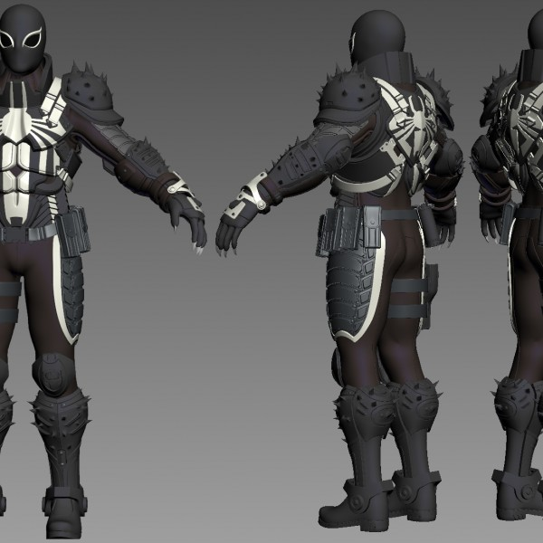 3D Printable Model: Agent Venom Flash Thompson Full Body ... - photo#18