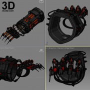 Scarecrow-Dr-Jonathan-Crane-Gauntlet-Forearm-Batman-Arkham-Knight-3d-printable-model-print-file-by-do3d
