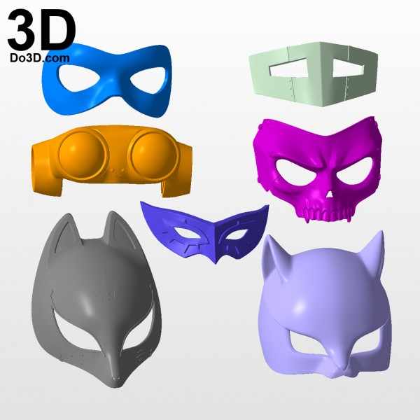 3d-printable-model-persona-5-mask-print-file-formats-stl-Joker-Ann-Fox-Haru-Okumura-Skull-Navi-Queen-by-do3d