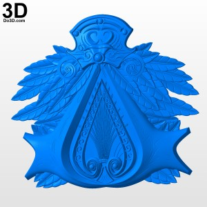 Assassins-Creed-Brother-Hood-Belt-Buckle-emblem-3d-printable-model-print-file-stl-by-do3d-com