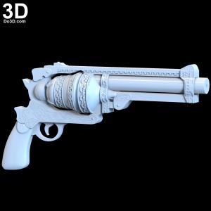 SINoALICE-Cinderella-Gunner-Gun-pistol-Cosplay-Weapon-Prop-3d-printable-model-print-file-do3d-stl