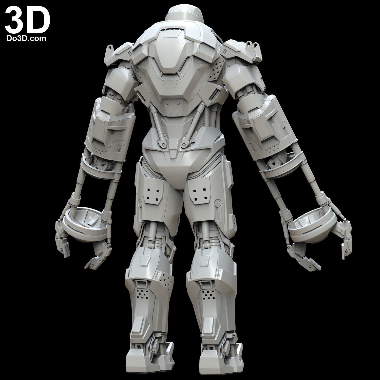 3D Printable Model: Iron Man Mark XXXV Red Snapper Full ...