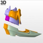 Kingdom-Hearts-Birth-by-Sleep-aqua-ankle-shoes-arm-piece-armor-3d-printable-model-print-file-stl-by-do3d