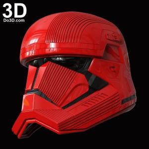 SITH TROOPER STAR WARS THE RISE OF SKYWALKER helmet 3d printable print file stl do3d 01