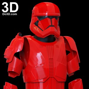 SITH TROOPER STAR WARS THE RISE OF SKYWALKER helmet armor 3d printable print file stl do3d 08