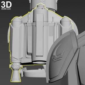 Mudhorn Clan of Two Sigil Emblem and Rising Phoenix Jetpack Mandalorian Beskar Steel Armor-3d-printable-model-print-file-stl-cosplay-prop