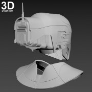 Zorii Bliss star wars The Rise of Skywalker helmet and neck armor 3d printable model print file stl by do3d