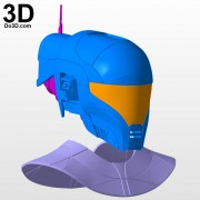 Zorii Bliss star wars The Rise of Skywalker helmet and neck armor 3d printable model print file stl by do3d.jpg-4