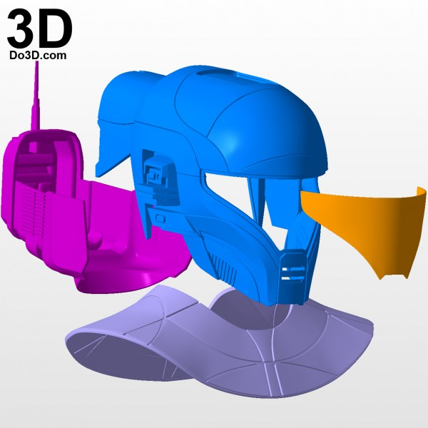 Zorii Bliss star wars The Rise of Skywalker helmet and neck armor 3d printable model print file stl by do3d.jpg-5