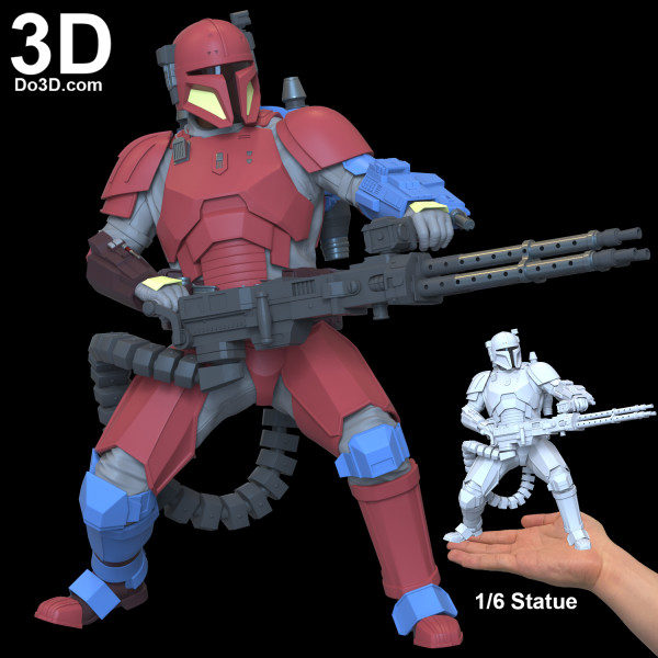 heavy-infantry-mandalorian-mando-Paz-Vizla-3d-printable-model-print-file-for-printing-statue-figure-6th-scale-by-do3d